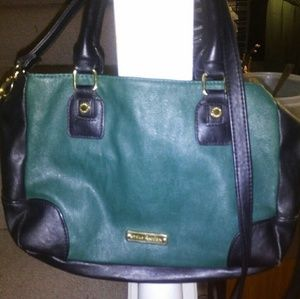 Steve Madden blue and green leather purse (medium)